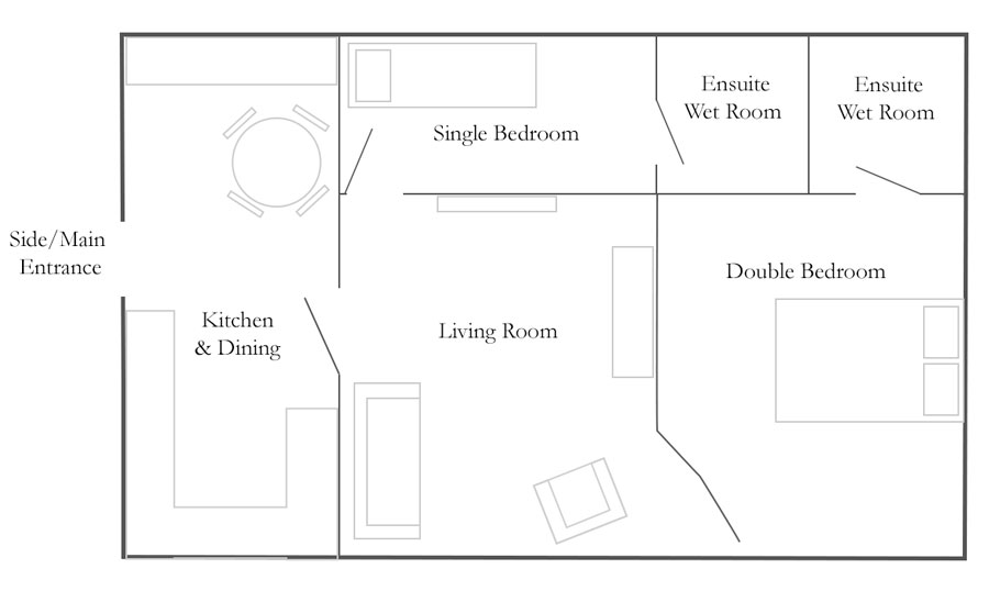 Cottage Floorplan - Church Farm Barns