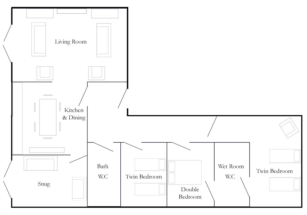 Church Farm Barns Cottage Floorplan - Old Cart Shed