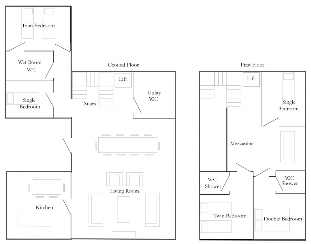 Church Farm Barns Cottage Floorplan - The Dresser