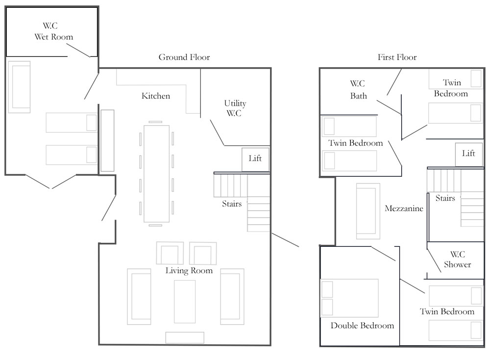 Church Farm Barns Cottage Floorplan - The Drier