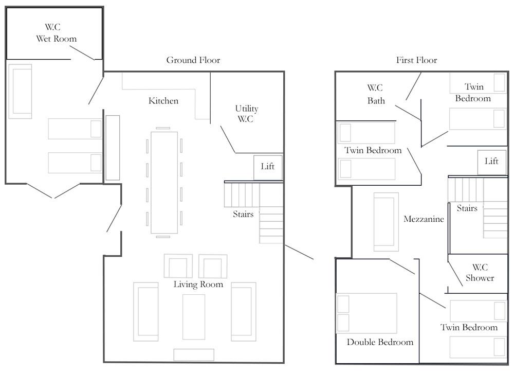Church Farm Barns Cottage Floorplan - The Drier